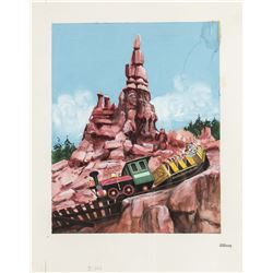 "Original ""Big Thunder Mountain Railroad"" Painting."