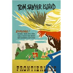 "Original ""Tom Sawyer Island"" Attraction Poster."