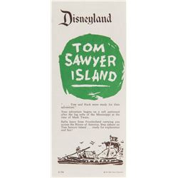 "Explorer's Map of ""Tom Sawyer Island"" Fold-Out."