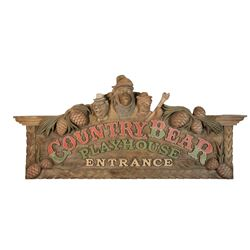 """Country Bear Playhouse"" Entrance Sign."