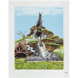 "Original ""Splash Mountain"" Painting."