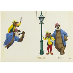 "Original Charles Boyer ""Splash Mountain"" Painting."
