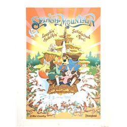 """Splash Mountain"" Attraction Poster Print."