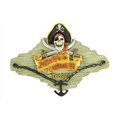 """Pirates of the Caribbean"" Talking Wall Plaque."