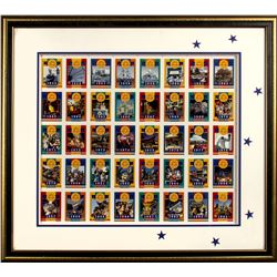 "Pair of Framed ""Disneyland 40th Anniversary Trading Cards""."