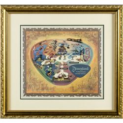 Disneyland Park Map Framed Pin Set.