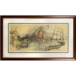 Tony Baxter Signed Discovery Bay Limited Edition Print.