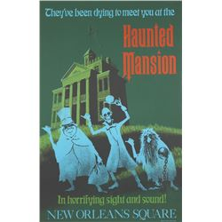 "Original ""Haunted Mansion Attraction Poster."