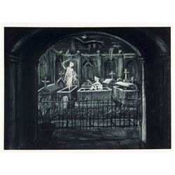"""Haunted Mansion"" Concept Art Photo Print."