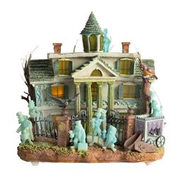 """Haunted Mansion"" Fiber Optic Model."