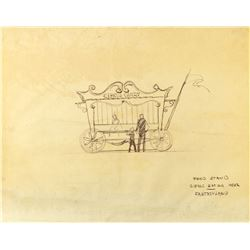 "Fantasyland ""Food Stand"" Concept Brownline by Bruce Bushman."