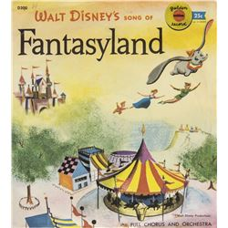 """Walt Disney's Song of Fantasyland"" Record."