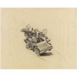 "Original ""Mr. Toad's Wild Ride"" Concept Drawing."