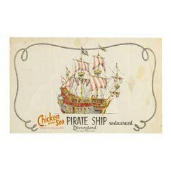 """Pirate Ship Restaurant"" Placemat."