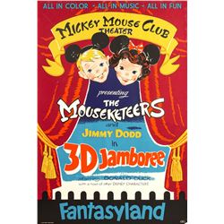 """Mickey Mouse Club Theater - 3D Jamboree"" Attraction Poster."