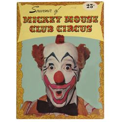 """Mickey Mouse Club Circus"" Souvenir Program."