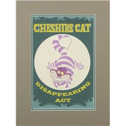 """Mickey Mouse Club Circus"" Cheshire Cat Poster Art."