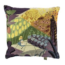 "Mary Blair ""Alice in Wonderland"" Concept Art Pillow."