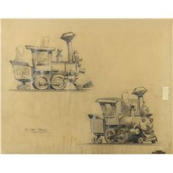 "Original Casey Jones Jr. ""Sugar Train"" Concept Drawing."