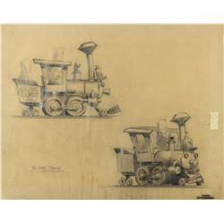 "Original Casey Jones Jr. ""Sugar Train"" Concept Drawing."