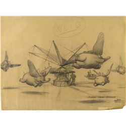 "Original ""Dumbo Swing Around"" Concept Drawing."
