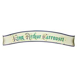 """King Arthur Carrousel"" Refurbishment Sign."