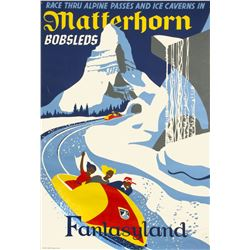 """Matterhorn Bobsleds"" Attraction Poster."