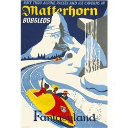"""""""Matterhorn Bobsleds"""" Attraction Poster."""