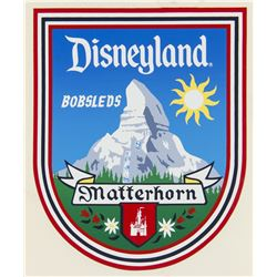"""Matterhorn Bobsleds"" Ride Vehicle Decal."