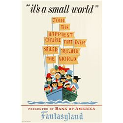 """It's a Small World"" Attraction Poster."