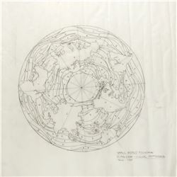 "Original Drawing for the ""It's a Small World"" Globe Fountain."