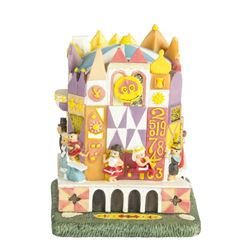 """It's a Small World"" Hinged Resin Box with Figure."