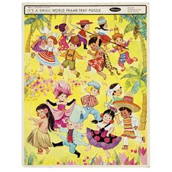 """""""It's a Small World"""" Frame Tray Puzzle."""