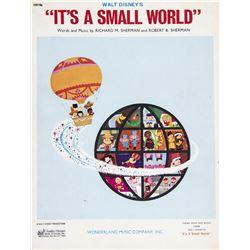 """""""It's a Small World"""" Sheet Music."""