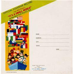 """It's a Small World"" World's Fair Souvenir Record."