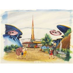 Original Painting for Jaymar Tomorrowland Puzzle.
