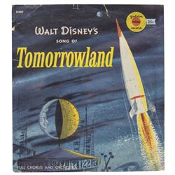 """Walt Disney's Song of Tomorrowland"" Record."