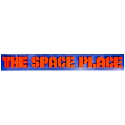 """The Space Place"" Restaurant Entrance Sign."