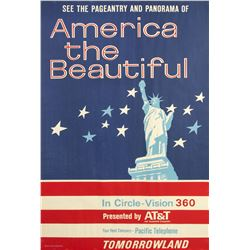 """America the Beautiful in Circle-Vision 360"" Attraction Poster."