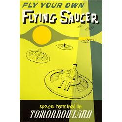 """Flying Saucer"" Attraction Poster."