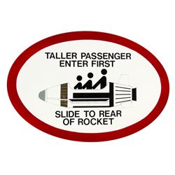 """Rocket Jets"" Passenger Sign."
