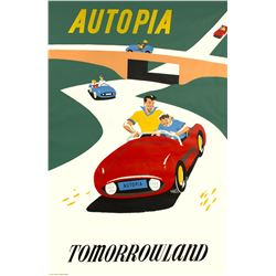 "Original ""Autopia"" Attraction Poster."