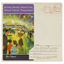 """Progressland"" World's Fair Souvenir Record."