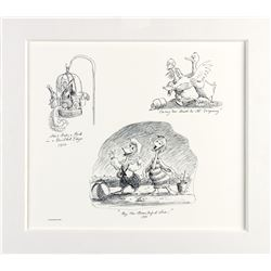 "Pair of ""America Sings"" Marc Davis Concept Art Prints."