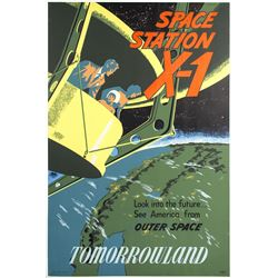 """Space Station X-1"" Attraction Poster."
