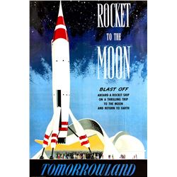 "Disney Gallery ""Rocket to The Moon"" Attraction Poster."