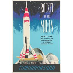 "Original ""Rocket To The Moon"" Attraction Poster."