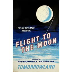"Original ""Flight to the Moon"" Attraction Poster."