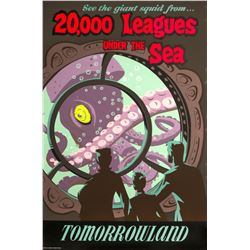 """20,000 Leagues Under the Sea"" Attraction Poster."