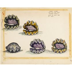 """Submarine Voyage"" Giant Clams Concept."